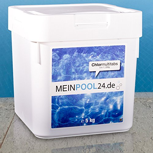 5 kg MEINPOOL24.DE CHLORMULTITABS CHLOR MULTITABS 5 IN 1, 200 g TABS POOLCHEMIE (Tab Chlor)