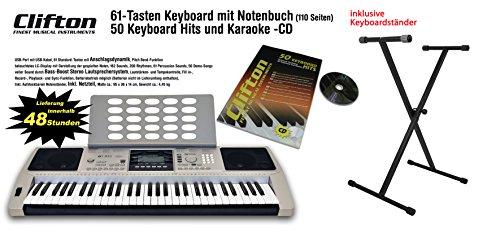 clifton-keyboard-lp6210c-usb-midi-61-anschlagdyn-tasten-netzteil-pitchbend-rad-komplettset-mit-stand