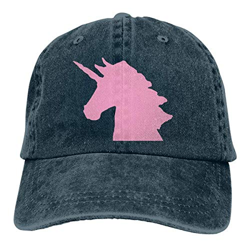 Baseballkappe Sport-Mütze Pink Unicorn Men's Women's Adjustable Jeans Baseball Hat Denim Fabric Hip-hop Cap Sports Cool Youth Golf Ball Unisex Cowboy hat Fedora Beach Hiking Skull 3D Printing caps -