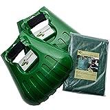 Pelle ramasse-feuilles à dents de Mixitude dotée d'un coussinet de protection au poignet et d'un sac à déchets végétaux d'une contenance de 72 gallons