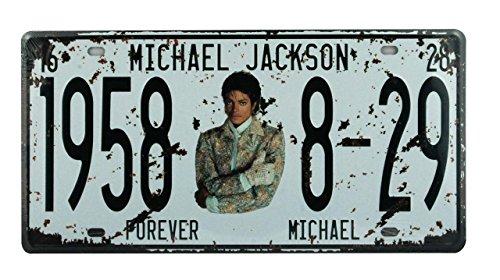 YUDA Dekorative MATURen, Platten, 30x15cm/30x20cm, Vintage, Amerikanisch, Marken Auto, Länder, Motorrad, Heimdeko, Vintage 30x15cm Michael Jackson