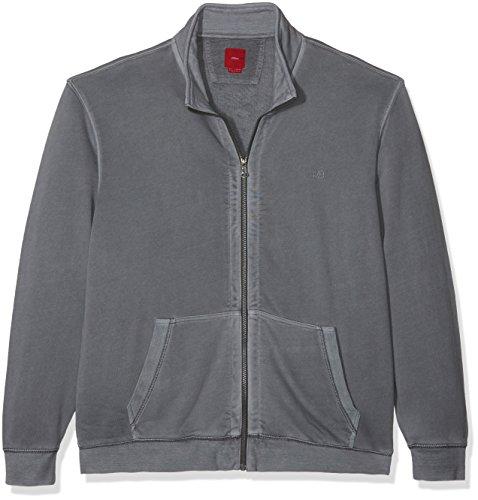 s.Oliver Big Size /Sweatjacke - Gilet - Homme Grau (stone grey 9512)