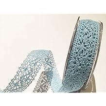 Bertie s Bows pálido azul crochet 22 mm encaje – por metro (este es
