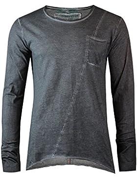 trueprodigy Casual Herren Marken Long Sleeve mit Brusttasche, Oberteil cool und stylisch mit Rundhals (Langarm...