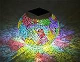 SUGER-LIGHT Mosaik Lichter Nacht Licht Globus Blinken LED Bunt Wasserdicht Romantisch Fee Solar Energie Zimmer Haus Verein Party Unterhaltung Lampe
