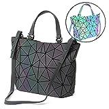 HotOne Scherbe Gitter Design Geometrische Tasche PU-Leder Einzigartige Geldbörsen und Handtaschen (Leuchtend Mittel, M)