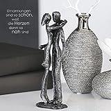 Casablanca 74603 Design Skulptur Couple - Liebespaar - Gußeisen - brüniert - Farbe: Antik-Silber 18 x 16 x 5 cm
