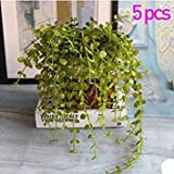 Kicode Home Garden Wall Decoration Outdoor Atificial Fake Hanging Vine Plant Leaves Garland Set of 5