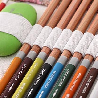 Katara 1786Muelle de estuche con agujeros, lápices de funda, accesorios para artistas, Pencil Bag para Multicolor de lápices, rollo para Colegio, Oficina, Pintar, escribir, dibujar