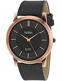 RELISH RE-C8034CB Copper Case Black Dial Analog Watch For Mens & Boys