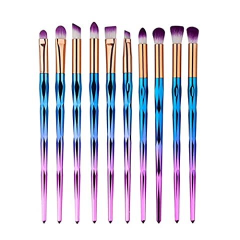 Pinceaux de Maquillage pour les Yeux Molie 10 pièces Maquillage Outils de Fard à Paupières Sourcil Fond de teint Pinceau