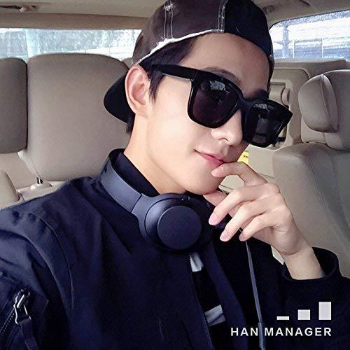 Quadratische Sonnenbrille Mann Flut Person 'Stil von Korea-Laufwerk Liebhaber', die nur teilweise auf die Sonne Spiegel weiblich ist, kann mit kurzsichtigen Anzahl von Graden zusammen gehen - Sonnenbrillen Korea Männer