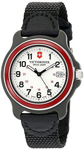 Victorinox Herren-Armbanduhr 39mm Armband Nylon Schwarz Gehäuse Plastik Schweizer Quarz Analog 249088