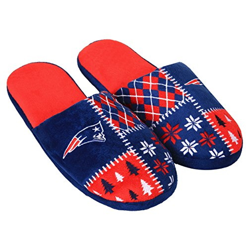 Forever Collectibles NFL New England Patriots Unisex Ugly Slide Slipper Extra Large, X-Large