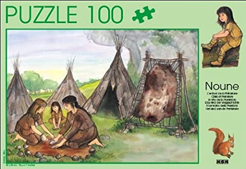 Puzzle 100 pièces : Noune, l'enfant de la Préhistoire (40x28cm)