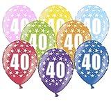 Libetui 10 kunterbunte Luftballons Metallic 30cm Deko zum 40. Geburtstag Happy Birthday Dekoration (Zahl 40)