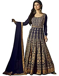Vasu Saree Blue Georgette Anarkali Suit With Heavy Embroidery Work