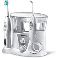 Waterpik Complete Care 7.0 Irrigador y cepillo de dientes electrico sonico, Blanco