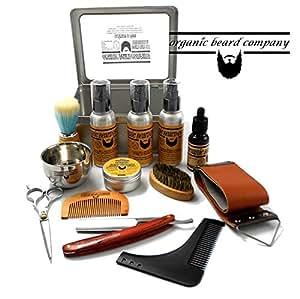 Organic Beard The Wakeup Call Metal Boxed 14 Piece Luxury Shaving Grooming Kit FREE UK Post