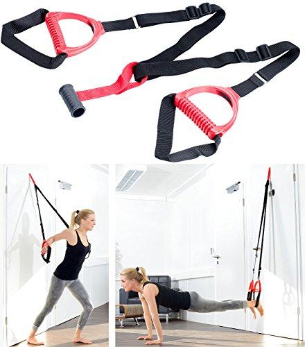 PEARL sports Tür Expander: Suspension-Schlingentrainer mit Türanker für Ganzkörpertraining (Schlingentrainer Tür)