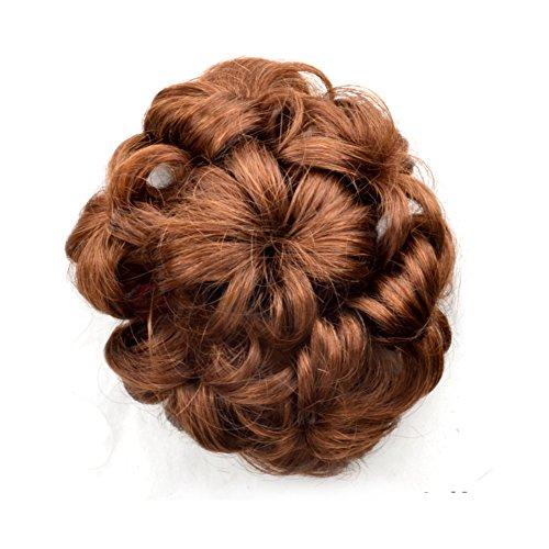 Lady capelli finti dritto/ sfera/ Bud/Le donne capelli parrucca rotolo anello fatto dal datore di lavoro-B
