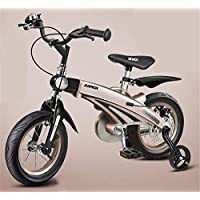 Asnails Kids Bike with Training Wheels for 12 14 16 Inch Bike, Featuring Push Handle for Easy Steering, Training Wheels, Enclosed Chain Guard, Quick-Adjust Seat