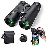 Binocolo per adulti Kids, 10x42 Compact HD Binocolo professionale con supporto per smartphone per il birdwatching, campeggio, escursionismo-BAK4 Prisma FMC Lens con tracolla/borsa da trasporto