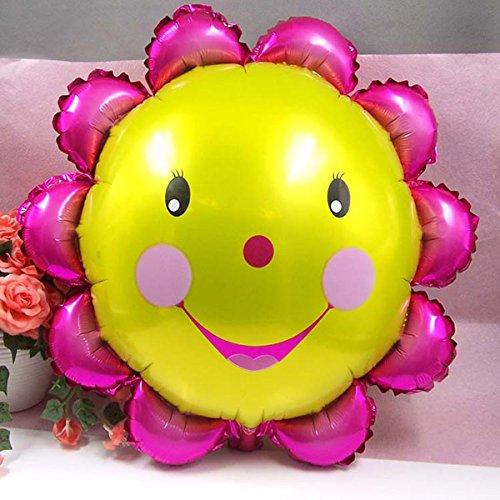 s Aluminiumfolie, Sonnenblume, 58 cm, lächelndes Gesicht, Dekoration für Geburtstage, Partys ()