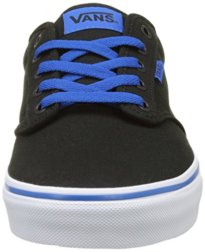 Vans MN Atwood, Scarpe da Ginnastica Basse Uomo Nero (Retro Varsity Black/blue)