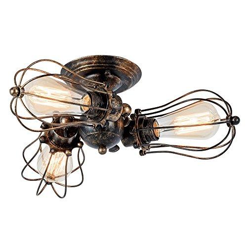 Kupfer Wand Schatten (Deckenleuchte Vintage Verstellbar Metall Lampen Rustikal Deckenleuchte Antik für Landhaus Schlafzimmer Wohnzimmer Esstisch (Gemalt mit Öl gerieben Bronze))