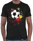 HARIZ  Herren T-Shirt Fußball Farbklecks Weltmeisterschaft Trikot WM Gratis Bang Sticks Deutschland Fussball Collection Black L