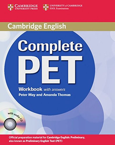 Complete PET. Workbook with anwers and Audio-CD por Peter May
