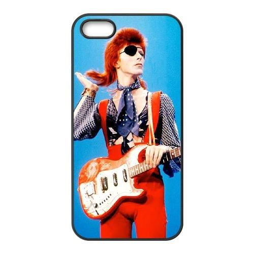 David Bowie coque iPhone 5 5S Housse téléphone Noir de couverture de cas coque EBDXJKNBO13461