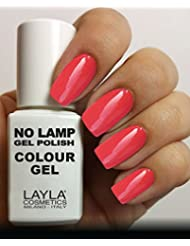 Layla Cosmetics Milano No Lamp Gel Polish Vernis à Ongles Rich Coral