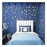 QTZJYLW Kreative Diy Wandtattoos Silber Kreis Haushalt Zimmer Boden Wandaufkleber (45 × 50 Cm)