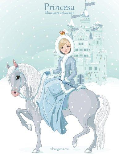 Princesa libro para colorear 2