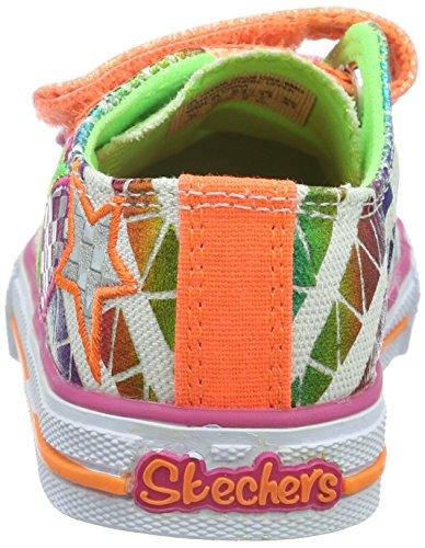 Skechers Shuffles Daisy Dotty, Baskets Basses fille Blanc (Wmlt)
