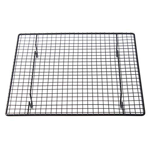 Jinzuke Carbon Steel Wire Grid Cool Rack BBQ Cake Cooling Shelf Nonstick Pie Bread Cake Baking Tray Steel Bar Cookies