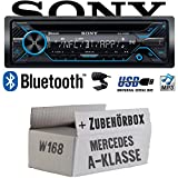 Mercedes A-Klasse W168 - Sony MEX-N4200BT | Bluetooth CD/MP3/USB Autoradio - Einbauset