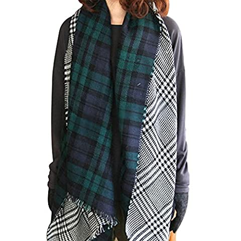 Minetom Women Girls Ladies Fashion Warm Soft Tartan Scarf Scarves
