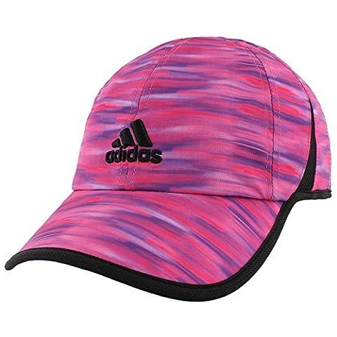 adidas Womens Adizero Ii Cap, Shock Pink/Black Whimsy Print, One Size