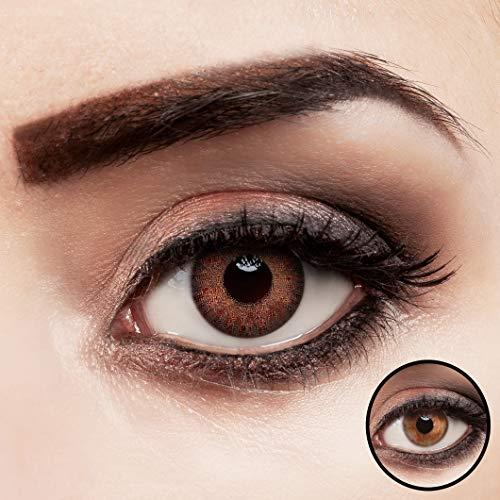 aricona Kontaktlinsen braun ohne Stärke intensiv farbige Jahreslinsen 2 Stück
