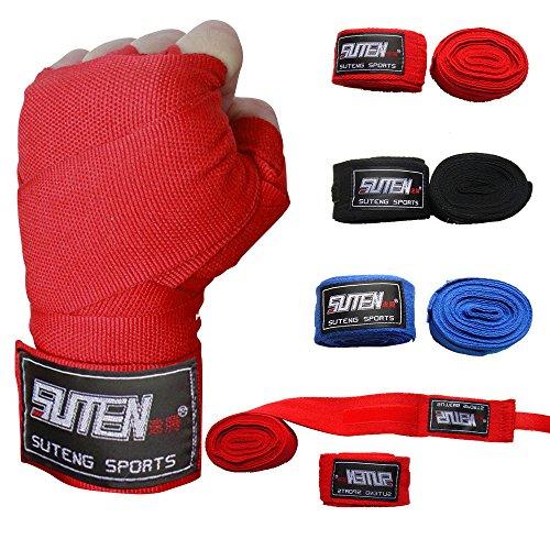 Siswong Sports Schutzausrüstung, Handpackungen, Boxhandschuhe Muay Thai MMA Boxpackung (Kunststoff-wrap Breite Extra)