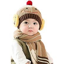 8d98f07231d Webla(TM) 2PCs Bébé et Enfants Mignonne Smiley Chaude Bonnet Chapeaux  Ensemble Unisexe Fille