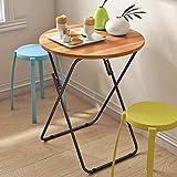 J+N NJ Klapptisch- Faltbarer tragbarer Schmiedeeisentisch, Esszimmertisch, Picknicktisch, Grilltisch (Farbe : B, größe : 60x60x70cm)