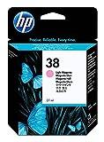 HP 38 - Cartucho de tinta original pigmentada, color magenta claro