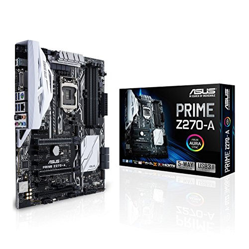 ASUS Prime Z270-A - Placa Base para Gaming (HDMI, 6 x SATA 3, Crystal Sound 3, 6 x USB 3.0, LGA 1151, Intel HD Graphics, 4 x PCIe 3.0, DDR4-3866 MHz)