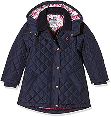 Joules Girl's Jnr Quilted Plain Coat