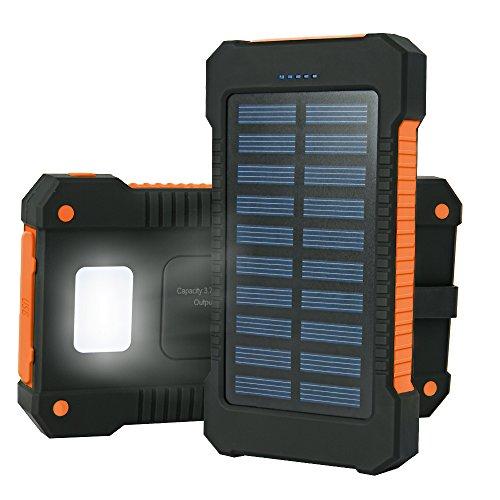 Cargador Solar 15000mAh, Iyowin Cargador Solar Movil de Gran Capacidad con 2...