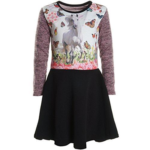 Mädchen Kinder Spitze Winter Kleid Peticoatkleid Festkleid Lang Arm Kostüm 20920,...